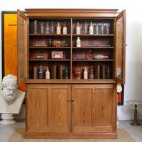 Oak Pine School Cabinet 19th Century (2 of 12)