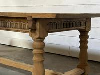 Superb Quality Large Bleached Oak Farmhouse Dining Table (19 of 32)