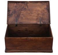 Georgian 18th Century Small Elm Coffer or Box (2 of 7)