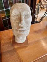 Carved Stone Woman's Head (2 of 4)