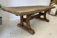 Large French Oak Farmhouse Refectory Dining Table (9 of 10)