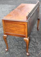 1940s Mahogny Pedestal Desk on Cab Legs '1 Piece' (3 of 4)