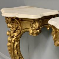 Pair of 19th Century French Gilt Console Pier Tables (7 of 13)