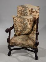 Large & Finely Carved Pair of Early 20th Century Throne Type Chairs (2 of 5)