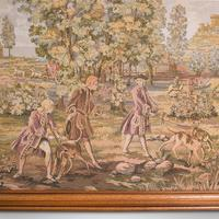 Large Antique Panoramic Tapestry, French, Needlepoint, Decorative Panel c.1910 (4 of 12)