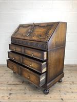 Early 20th Century Antique Oak Geometric Bureau (M-1657) (9 of 17)