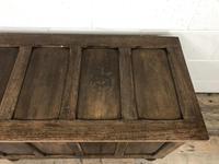 Vintage Oak Panel Blanket Box or Coffer Chest (5 of 15)