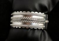 Antique Victorian Silver Bangle, Aesthetic Era, Boxed (15 of 17)