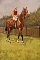 """Oil Painting Pair by Walter Vernon """"Racehorse Scenes"""" (5 of 11)"""
