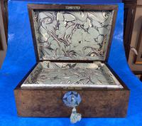 Victorian Walnut Jewellery Box with Inlay (8 of 15)