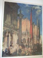 Sir Frank Brangwyn - Signed Print of the Doge's Palace, Venice (2 of 6)