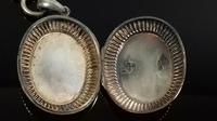 Antique Victorian Silver Book Chain Collar Necklace Locket Pendant (5 of 12)