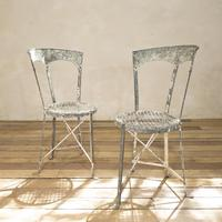 Charming Pair of Small French Metal Garden Chairs (2 of 13)