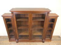 19th Century Antique Oak Breakfront Glazed Bookcase (2 of 15)