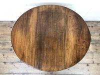 Small Antique Oak Drop Leaf Table (3 of 8)