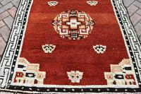 Antique Tibetan small carpet 229x121cm (2 of 6)