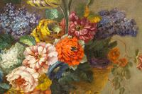 18th Century French Oil Painting. Still Life of Flowers. Artist: J. L Boizet 1789 (3 of 11)