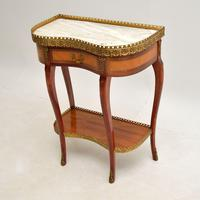 Antique French Marble Top Kidney Side Table (9 of 11)