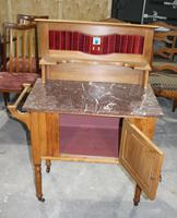 Satin Walnut Marble Top Washstand - 1920s (2 of 4)