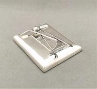 Superb Silver Golfing Interest Desk Clip / Paperweight (5 of 6)