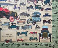 Intriguing Very Large 1960s Oak Framed Vintage Car Automotive Lithograph Poster (4 of 13)