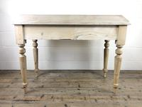 Victorian Antique Pine Two Drawer Side Table (7 of 13)