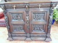 Country Oak Carved Cupboard Depicting Tavern Scenes 1800 (6 of 15)