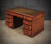 Exceptional Victorian Figured Walnut Desk (6 of 18)