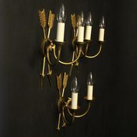 French Set Of 3 Empire Antique Wall Lights (10 of 10)