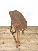 Pair of Rustic Wooden Cutler's Stools (8 of 10)