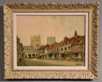 "Oil Painting by Godwin Bennett ""High Street, Winbourne"""