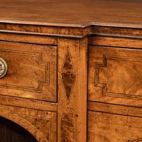 George III breakfront yew-wood inlaid mahogany sideboard (4 of 10)