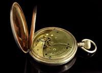 Antique Half Hunter Pocket Watch, Gold Plated, Waltham (2 of 11)