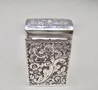 Victorian Silver Patience Card Box by Nathan & Hayes, Chester 1900 (2 of 11)