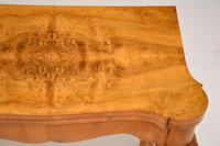 Antique Queen Anne Style Burr Walnut Card Table (11 of 11)