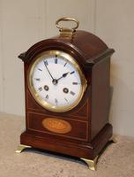 Small Mahogany & Inlay Mantel Clock (3 of 12)