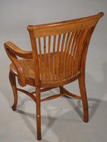 Well-Formed Early 20th Century Golden Oak Desk Chair (3 of 5)