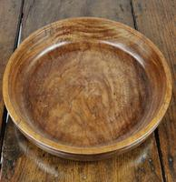 Large 19th Century Turned Lignum Vitae Fruit Bowl