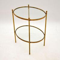 Vintage French Brass & Glass Side Table (9 of 10)