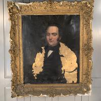 Antique large Georgian oil painting portrait of a gentleman Stanley Jones of Broadgate, Ludlow (2 of 13)