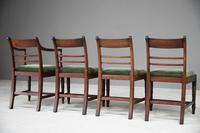 4 Antique Georgian Mahogany Dining Chairs (11 of 12)