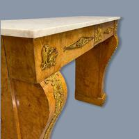 French Burr Walnut & Marble Top Console Table (11 of 14)