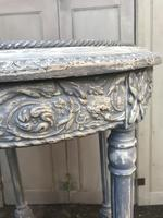Painted French marble top occasional table (7 of 8)