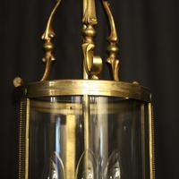 French Gilded Triple Light Antique Lantern (6 of 7)