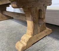 Rare Huge 3m Bleached Oak Farmhouse Table (16 of 23)
