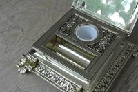 Super Large William Tonks & Sons Phoenix Brass Inkwell with Stamp Tray c.1890 (5 of 12)
