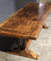 Wonderful French Chestnut Farmhouse Refectory Dining Table (8 of 37)