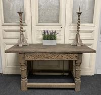 French Bleached Oak Hall Table