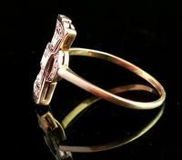 Vintage Art Deco Diamond Filigree Ring, 18ct Gold & Platinum (7 of 14)