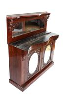 Early Victorian Rosewood marble top chiffonier, (6 of 7)